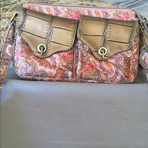 sharif paisley print crossbody bag